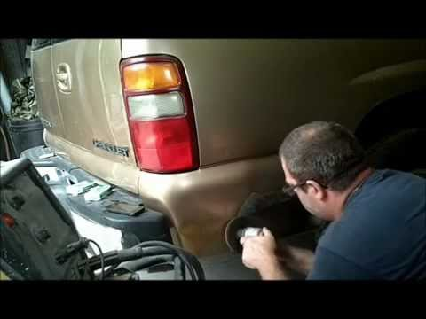 how to fix big rust holes on a vehicle