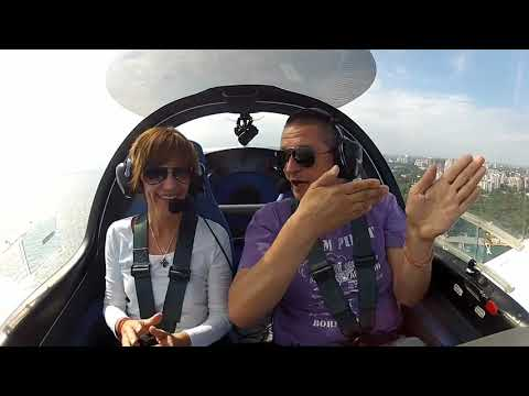 Полет на самолете над Одессой