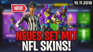 FORTNITE SHOP vom 10.11 - 🏈 NFL SKINS! 🛒 Fortnite Daily Shop (von Heute) (10 November 2018) | Detu