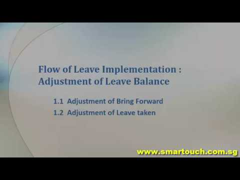 HRIS Software : Leave Management System tutorial : How to process leave  balance carry forward