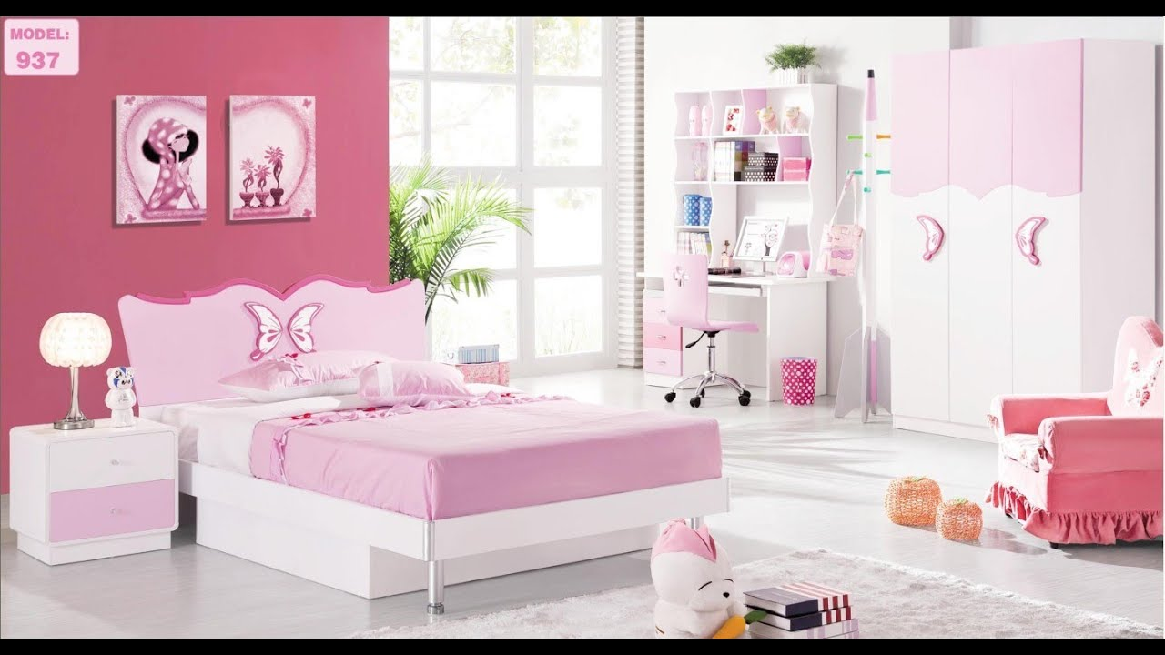 pink bedroom furniture.  How To Make Doll Kids Bedroom Furniture YouTube