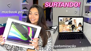 MACBOOK PRO M1! unboxing & customização 💻 ✨