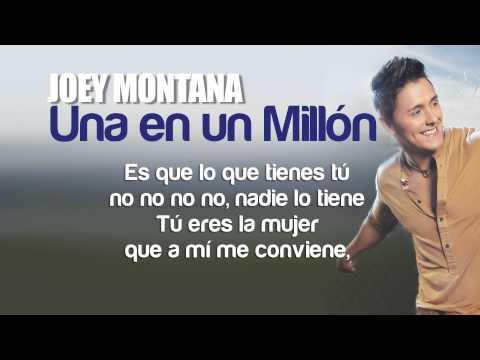 Joey Montana - Una En Un Millon Remix Feat. Chino & Nacho (Lyric Video)