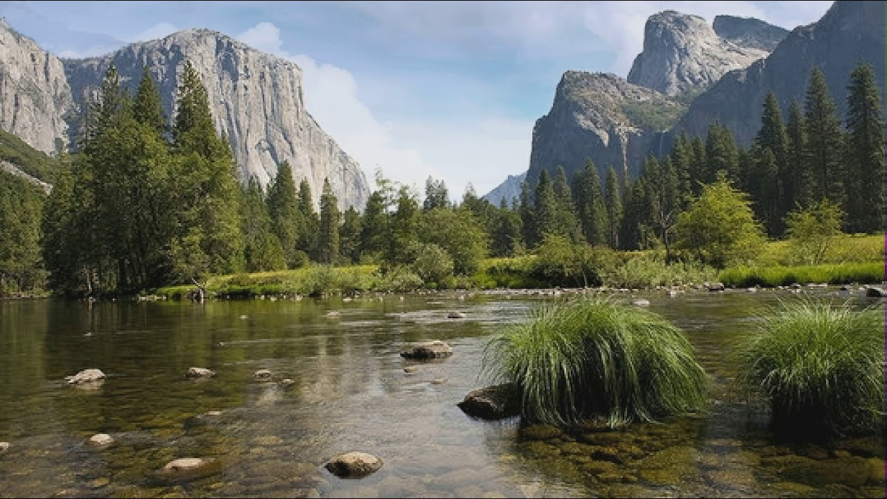 Beautiful Nature Mountain River - Animated backgrounds ...