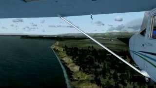 Dangerous Cessna 172 landing FSX HD [1080p]