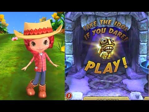 Temple Run 2 Frozen Shadows VS Strawberry Shortcake Berry Rush iPad Gameplay HD