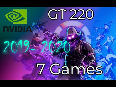 *NVIDIA GT 220 1gb In 7 GAMES  |  (2019-2020)