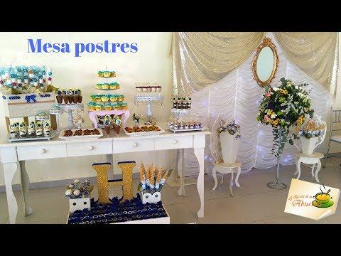 Mesa de postres y dulces para XV años