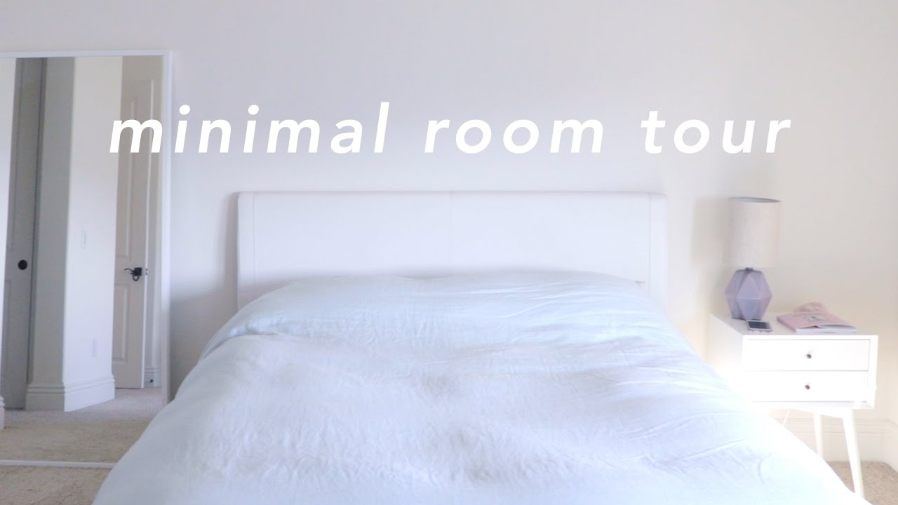 minimalist room tour 2016 - youtube