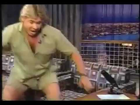 Steve Irwin On Late Night with Conan (2002)