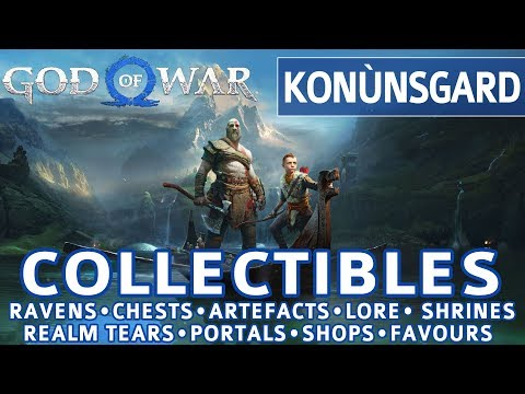 God of War - Konunsgard All Collectible Locations (Ravens, Chests, Artefacts, Shrines) - 100%