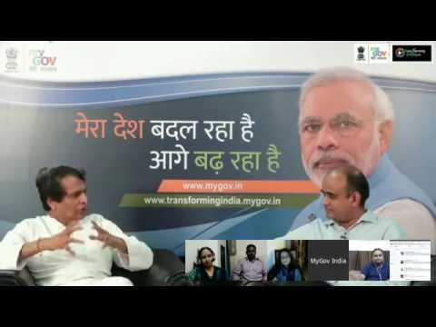 Live Talk with Suresh Prabhu on #TransformingIndia 1