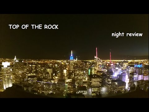 TOP OF THE ROCK - The Best Scenic View in New York City *night review* [HD]