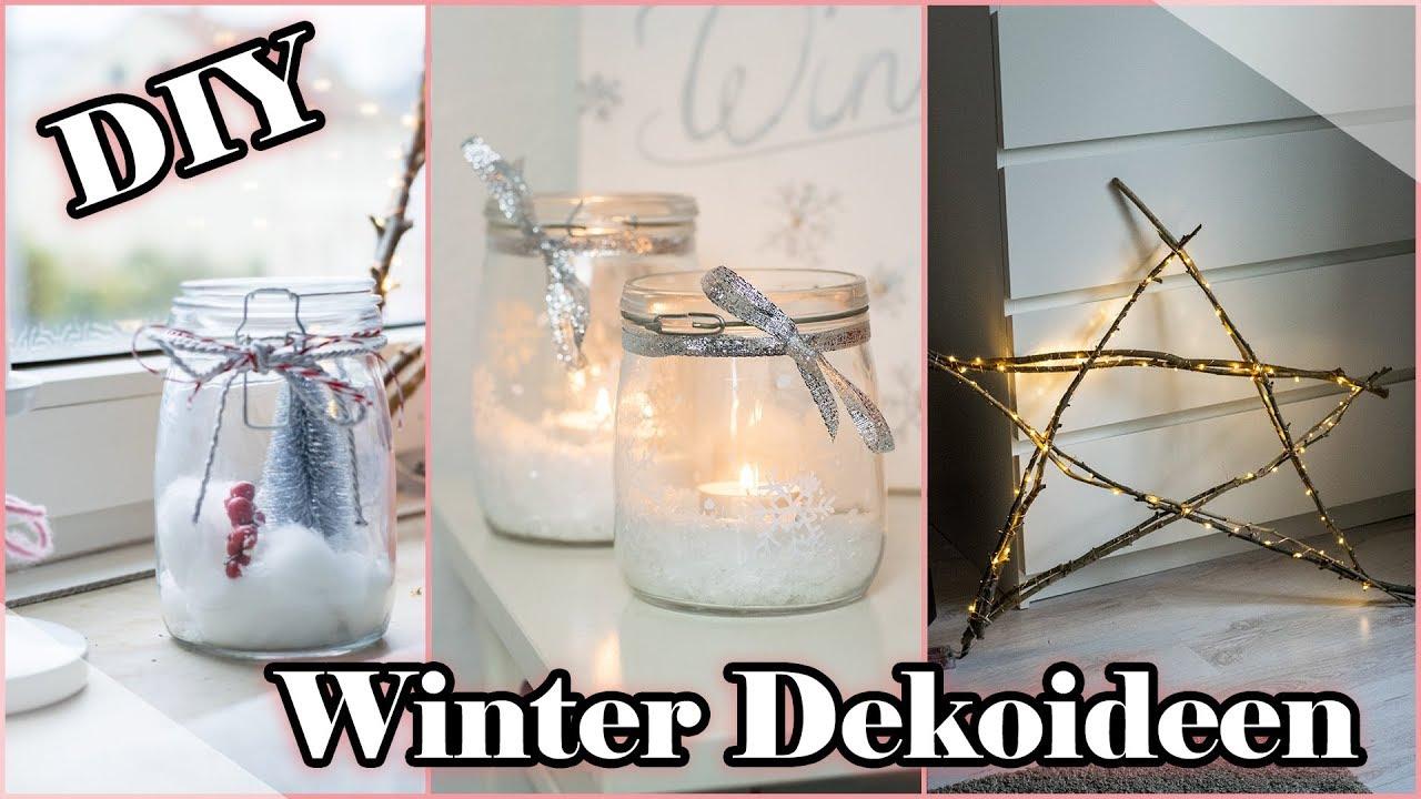 DIY DEKO IDEEN für den Winter - EINFACH, SCHNELL & GÜNSTIG | Mel ...
