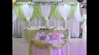 Оформление свадьбы в зеленом цвете, Минск, Ажур-Стиль