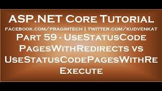 UseStatusCodePagesWithRedirects vs UseStatusCodePagesWithReExecute