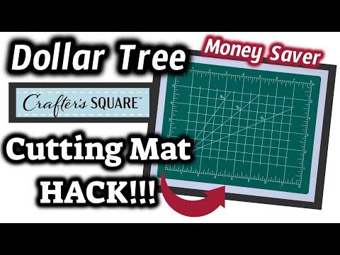 Dollar Tree CUTTING MAT HACK   QUICK & EASY Money SAVING HACK