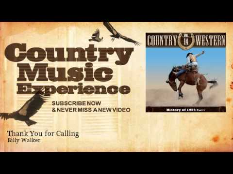 Billy Walker - Thank You for Calling - Country Music Experience