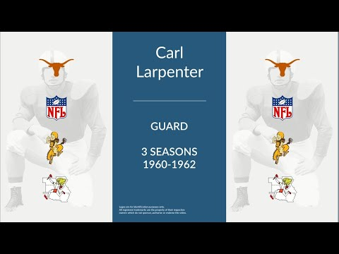 Carl Larpenter: Football Guard and Offensive Tackle