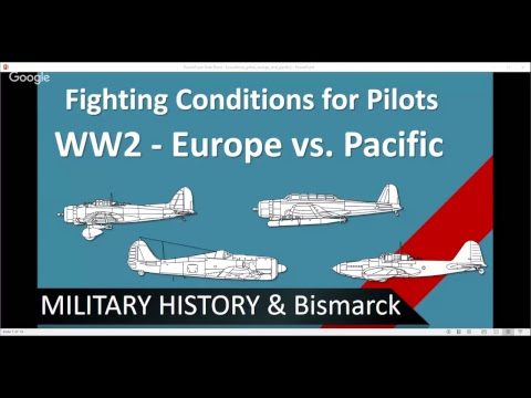 Fighting Conditions for Pilots in WW2 - Europe vs. Pacific /+Military History Visualized