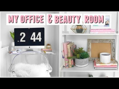 MY NEW OFFICE + BEAUTY ROOM TOUR! 2017