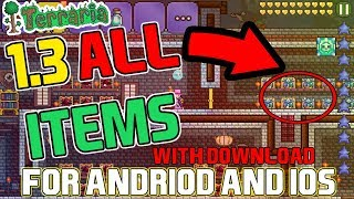 Terraria 1.2.4.1 ALL ITEMS MAP For Andriod & IOS + BONUS / With Download Link!!!
