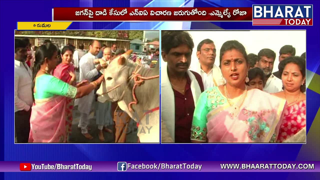 MLA Roja Counter To Somireddy Over YS Jagan PadaYatra Saba | Mataku Mata |  Bharat Today