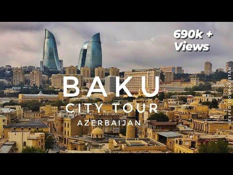 BAKU City Street Tour - Azerbaijan 2019