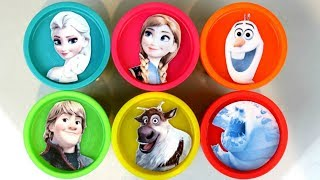 Nat and Essie Teach Colors with Frozen Princess Play-Doh Lids