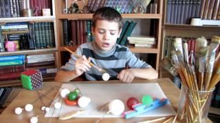 Как сделать макет, школьное задание, макет, планет, Марс. Сатурн, Юпитер, Венера, Плутон, Солнце,