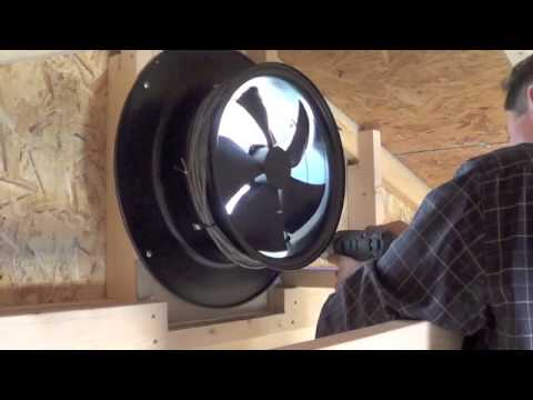 yellowblue Solar Gable Fan Install Video  YouTube