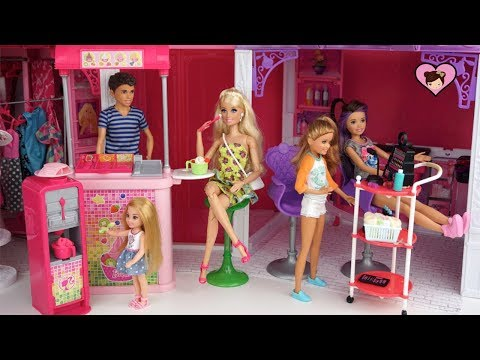 Barbie Sisters Weekend Routine - Barbie Shopping Mall & Nail Salon