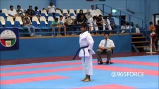 نهائي كاتا ناشئين في البطولة الأولى للكاراتيه في الكويت 20152016 Cadets Kata Final