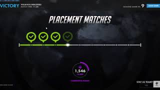 Won 10/10 Placement Matches for Season 6 - Overwatch