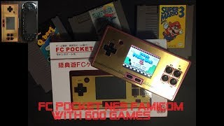 NES Famicom FC Pocket Unboxing and Review 600 games