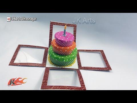 DIY Birthday Cake Explosion Box Tutorial |  JK Arts 1237