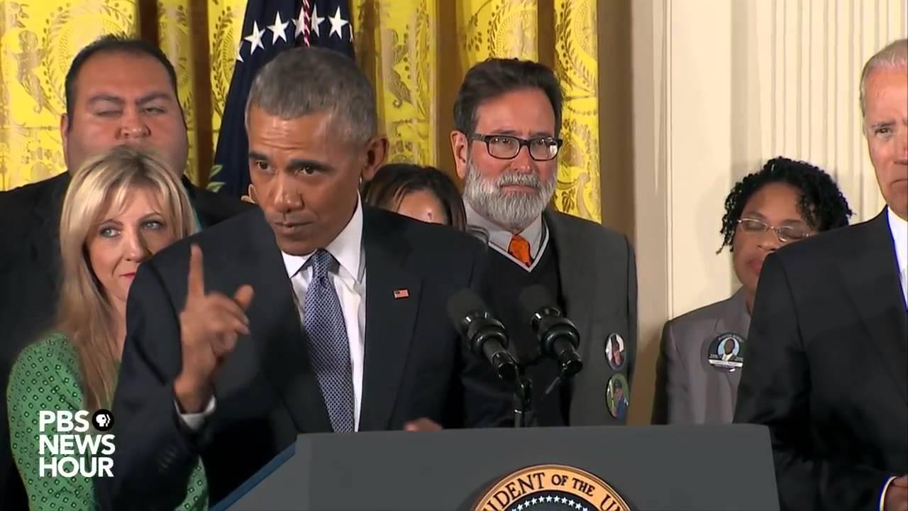 Bac Anglais 2016 - Gun Control Obama's Speech at White House