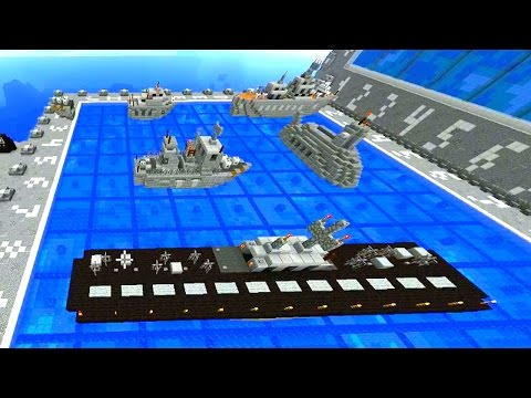 Minecraft Mini-Game: 1.8 BATTLESHIP #1 with Vikkstar & Lachlan