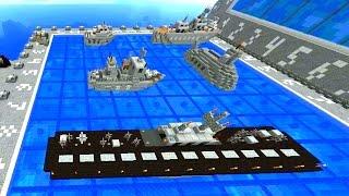 Minecraft Mini-Game: 1.8 BATTLESHIP #1 with Vikkstar & Lachlan