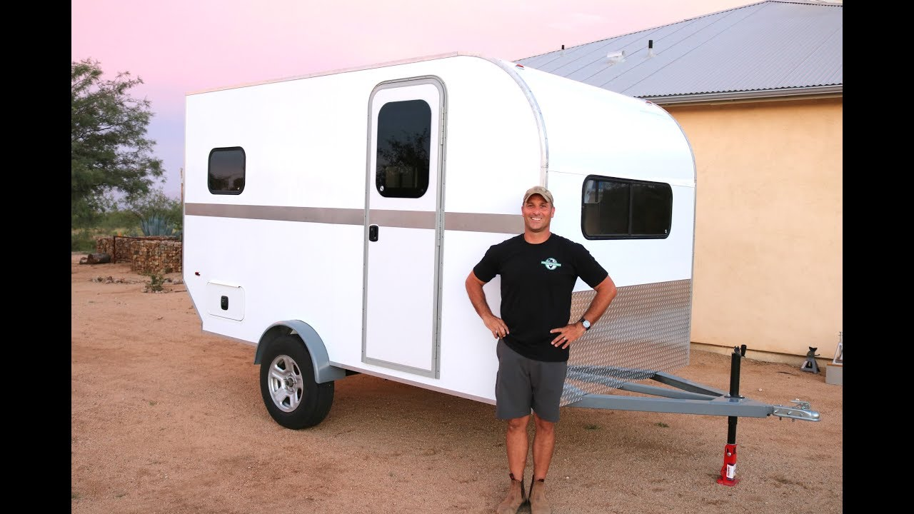 How to Build a DIY Travel Trailer - Insulation, Windows/Door, Aluminum Trim  (Part 3)