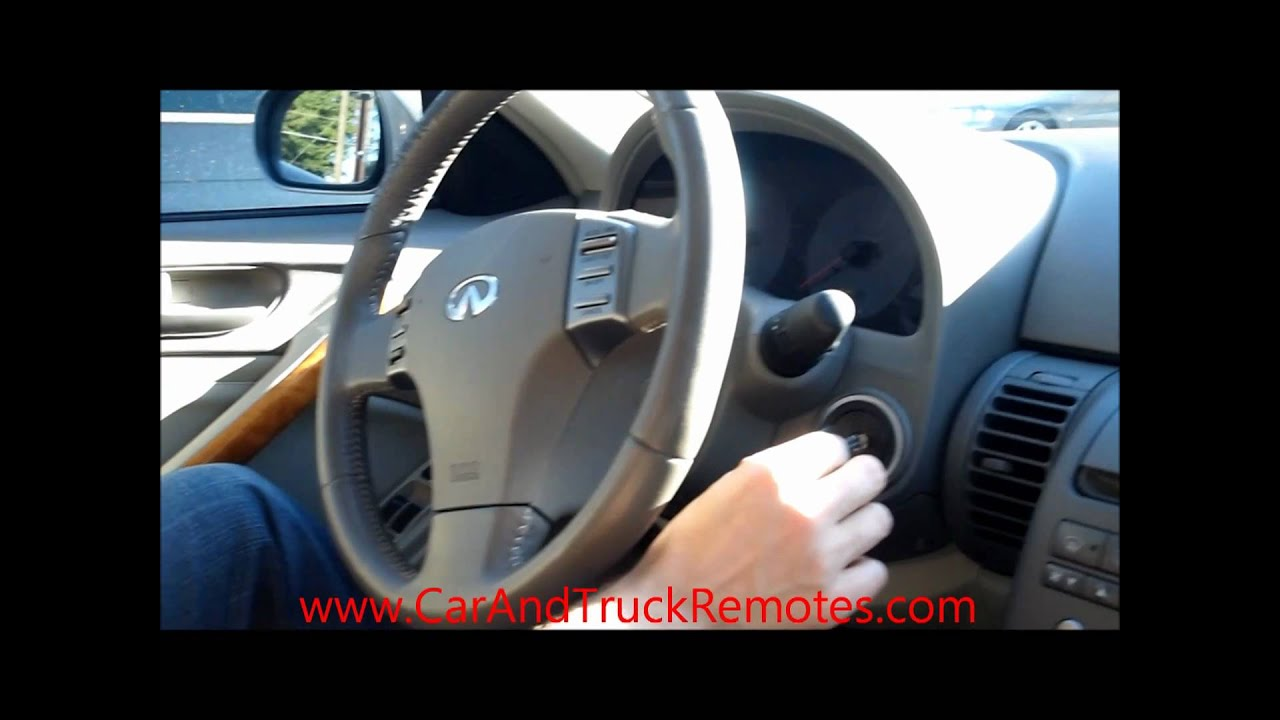 How to program Infiniti Keyless Entry Remote Keyfob Replacement Programming