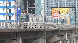 マニラMRT3号線3000形 ノース・アベニュー駅到着 Manila MRT Line 3 Class 3000