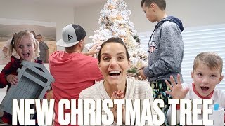 DECORATE WITH ME FOR CHRISTMAS 🎄 SETTING UP OUR NEW CHRISTMAS TREE AND DECORATING FOR CHRISTMAS