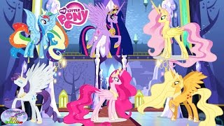 MY LITTLE PONY Mane 6 Transforms Into Princesses Coloring Book Surprise Egg and Toy Collector SETC