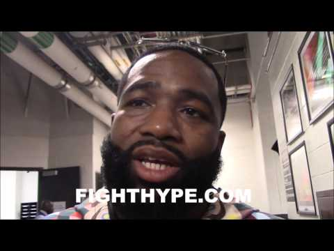 ADRIEN BRONER GIVES ADVICE TO ANDRE BERTO FOR SHAWN PORTER CLASH