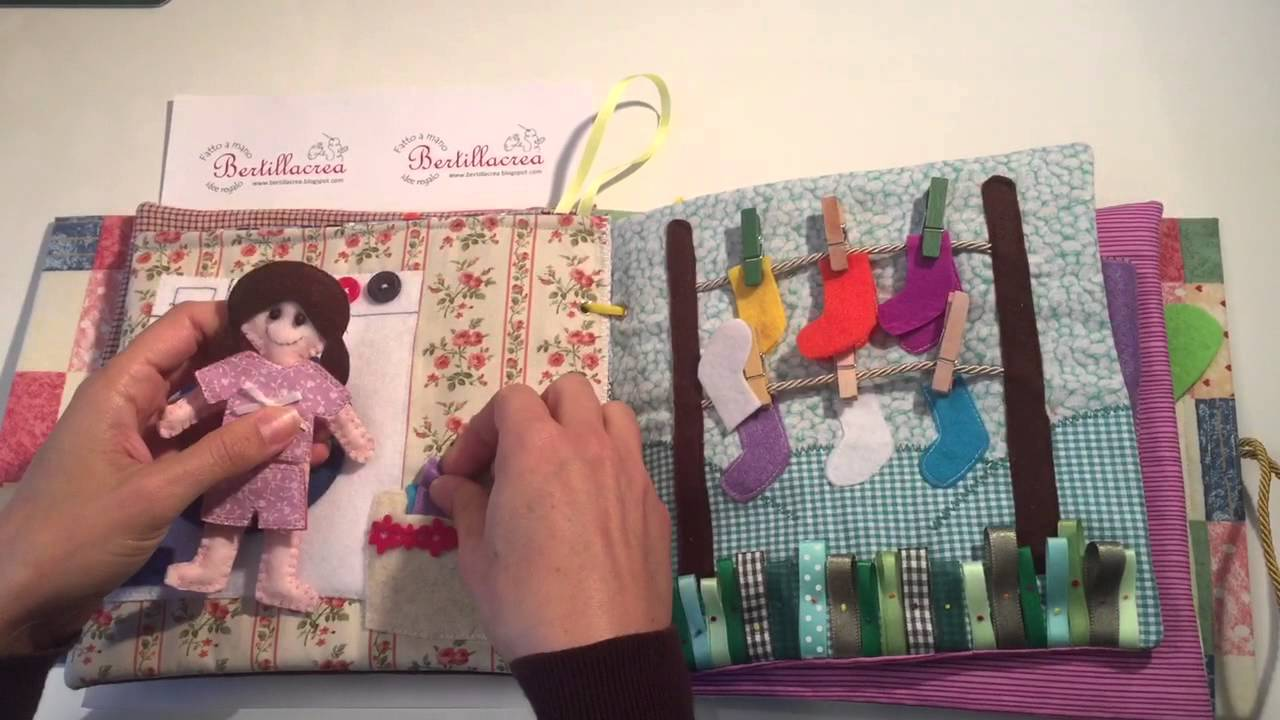 Bertillacrea libro tattile handmade per bambini 3 4anni for Altalena con scivolo per bambini