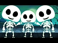 Five little Skeleton | Scary Halloween Rhyme | Baby Song