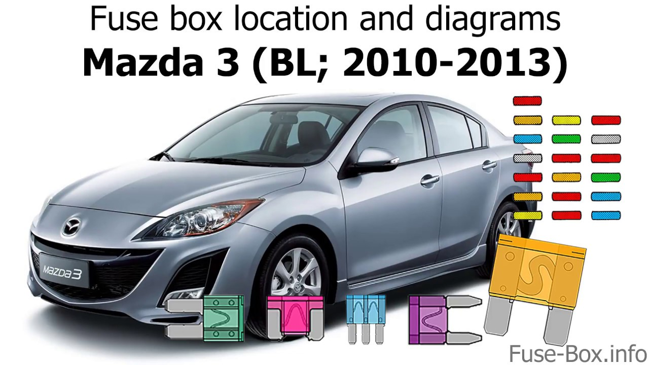 medium resolution of fuse box location and diagrams mazda 3 bl 2010 2013 youtube 2010 mazda 3 fuse box layout mazda 3 2010 fuse box