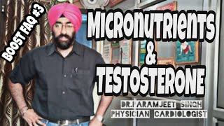 Boost Faq#3: Effect of Vitamin D, A, Calcium, Magnisium, Zinc, ZMA on Testosterone | Dr.Education