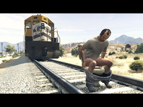 HOW TO STOP THE TRAIN IN GTA 5!! (100% WORKING TUTORIAL)